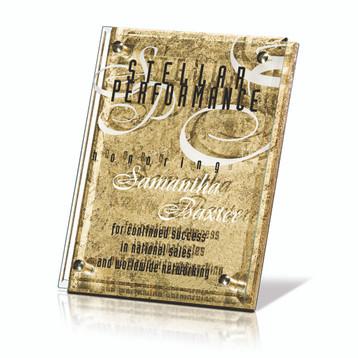Arabesque Gold Plaque