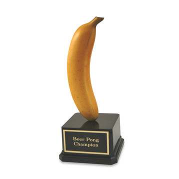 Far Out Banana Trophy on Acryllic