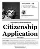 US Citizenship Application Information
