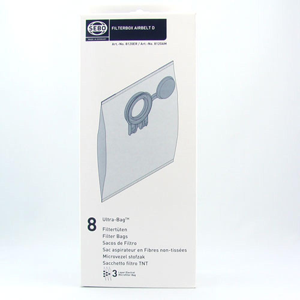 SEBO Airbelt D series vacuum bags.