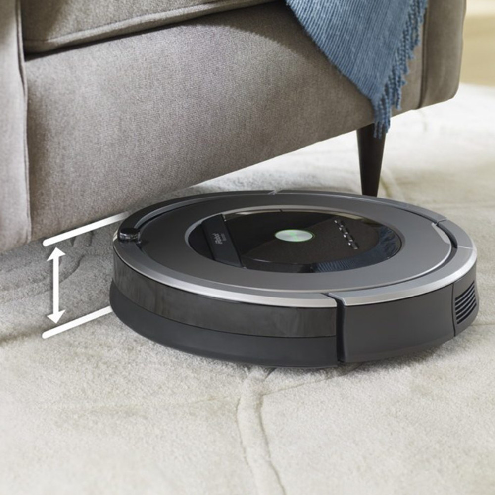 Roomba 860 has a low profile for cleaning under furniture