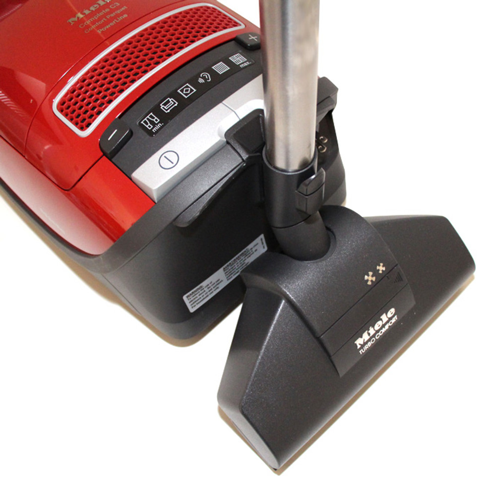 Turbo head can dock on rear port of vacuum for storage.