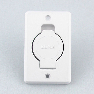 Beam toilet bowl style inlet valve in white.