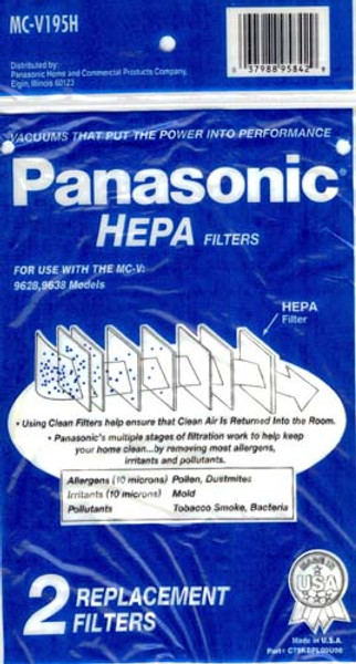 Panasonic MCV195H Vacuum Cleaner Filter 2pk