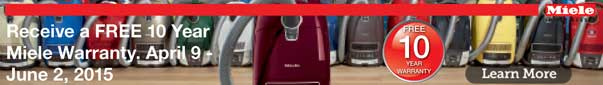 Miele Canada Free 10 Year Warranty Sale