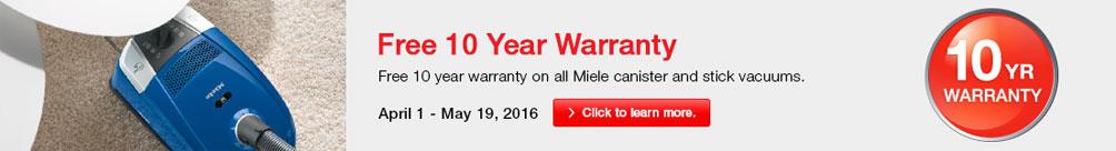 Miele Vacuum Promotion - Free 10 Year Warranty
