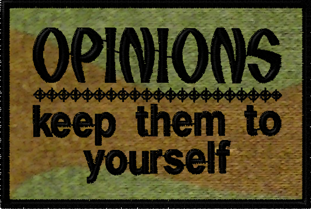Opinions:  Keep them to yourself morale patch in woodland material. #moralepatch #patches # oml
