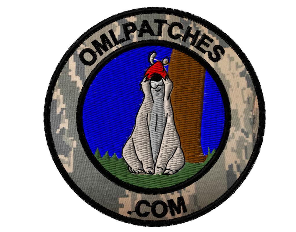 team template sheepdog sam custom velcro patch in ACU