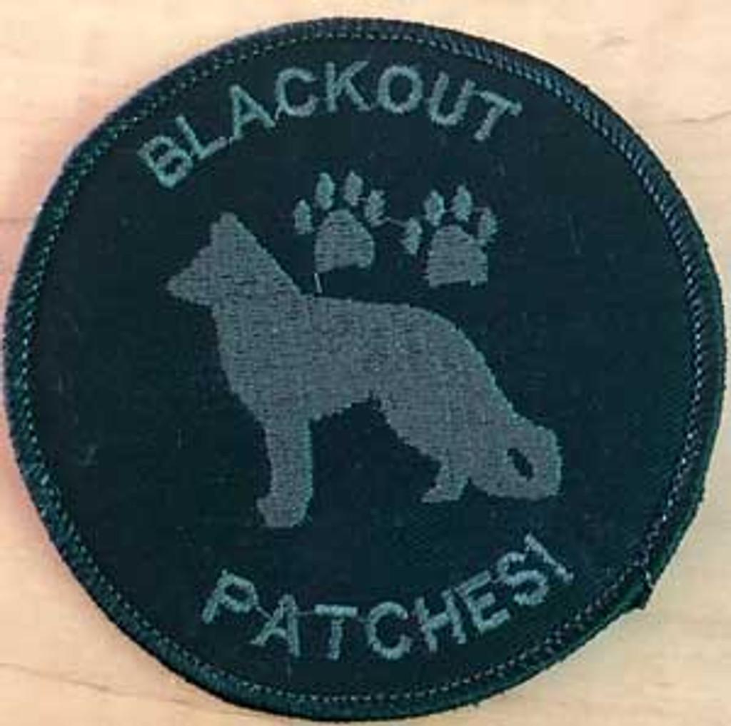 Blackout Team Template K9 Velcro patch