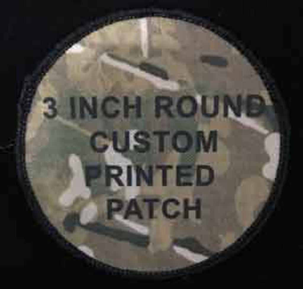 Printed Custom Patch 3inch round