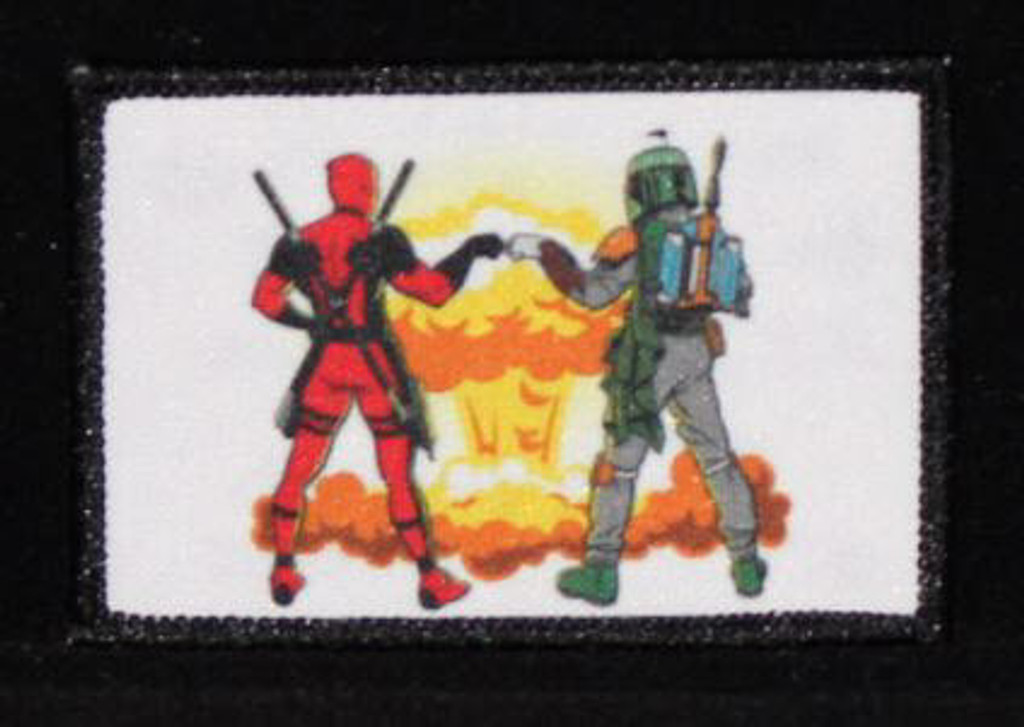 Deadpool/Boba Fett Nuke morale patch - vivid colors and lots of detail