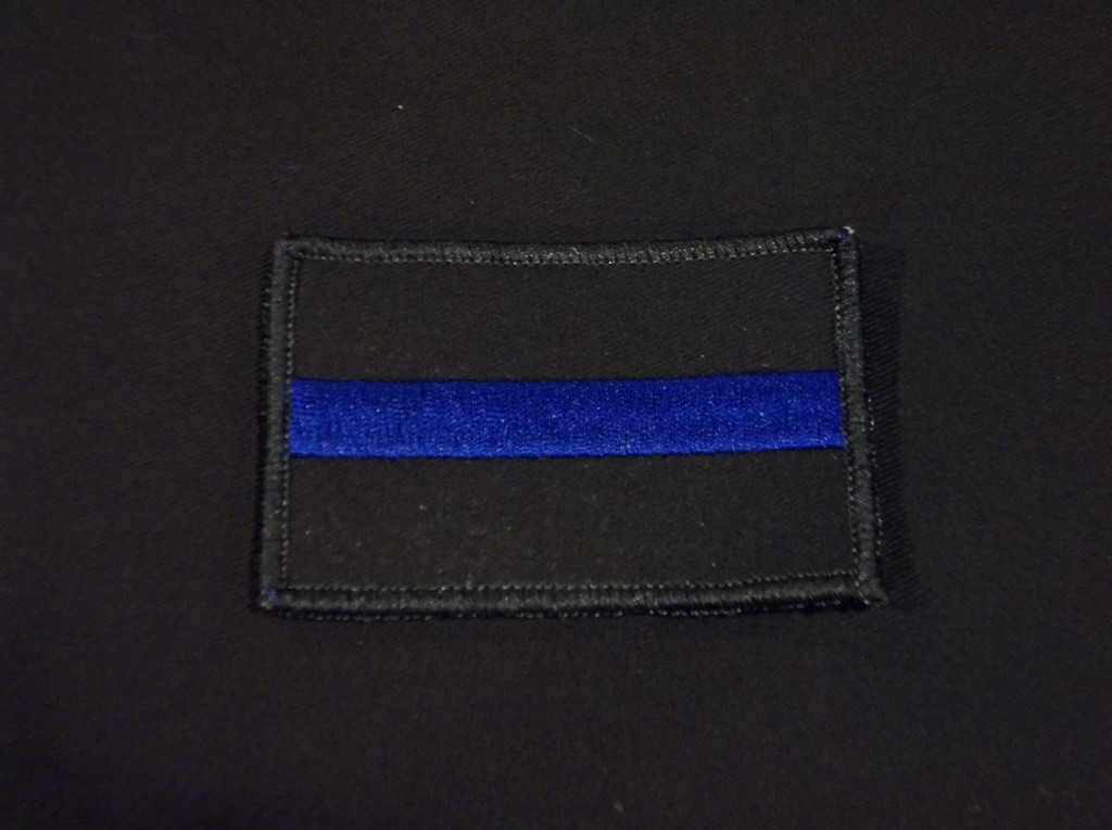 thin blue police patch
