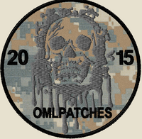 custom team morale patch blood skull on marpat
