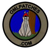 team template sheepdog sam custom velcro patch in OD