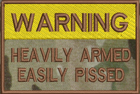 Warning Heavily armed on Multicam