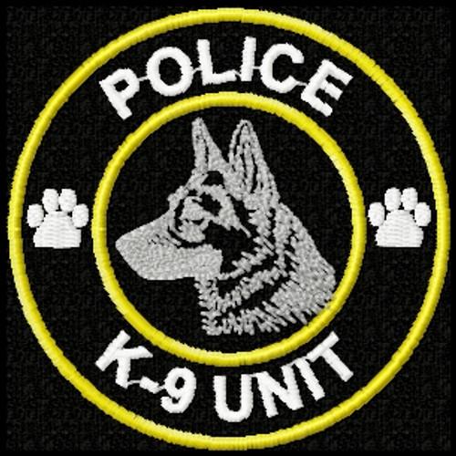 Police, K9 unit id patch