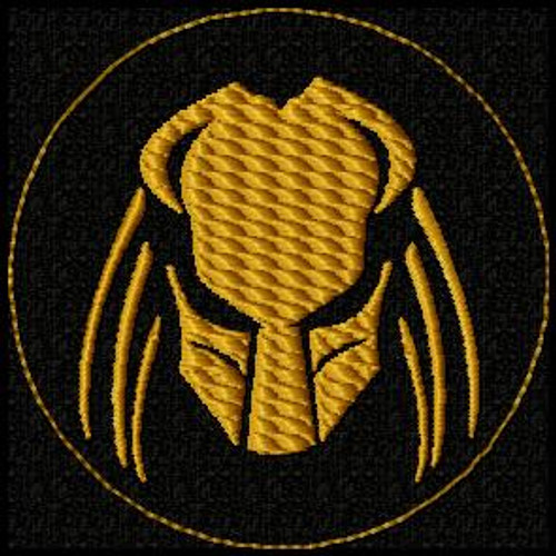 Predator Head VELCRO® Brand Patch in black and brown custom colors