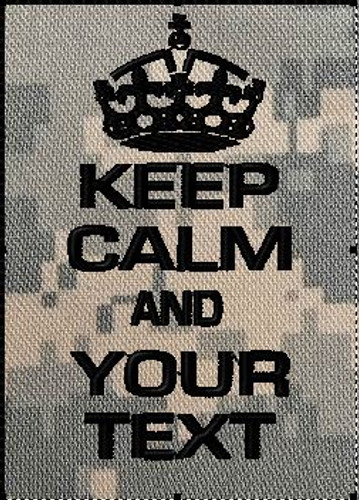 Keep Calm Patch custom