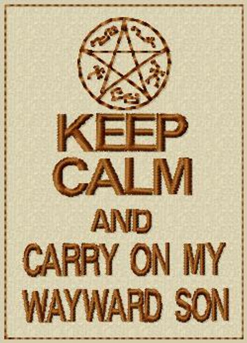 Keep Calm and Carry on My Wayward Son VELCRO® Brand Patch