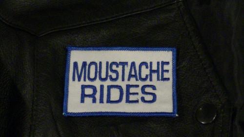 Moustache Rides Biker Patch