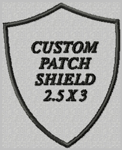 custom embroidered patch shield