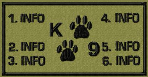 Battlepatch k9 2 paw VELCRO® Brand