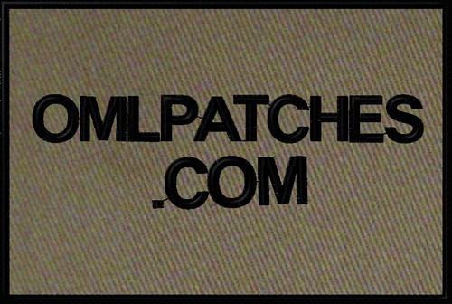 custom small 4x6 full back patch in OD