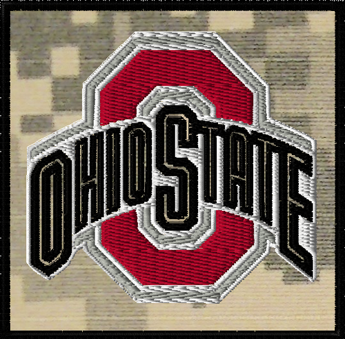 Ohio State full color patch on ACU