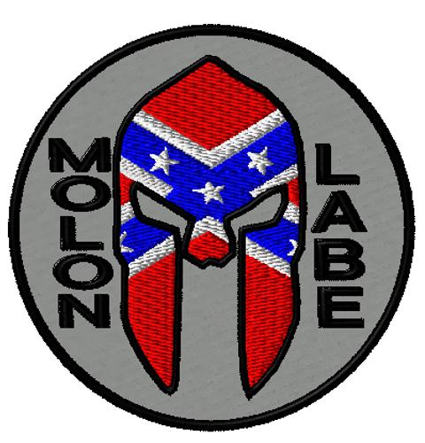 Molon Labe Rebel Morale patch in Grey