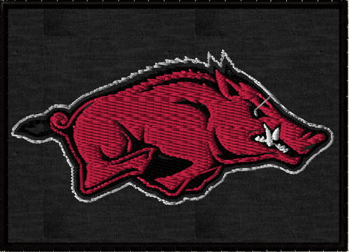 Arkensas Razorbacks Morale Patch Black Full Color