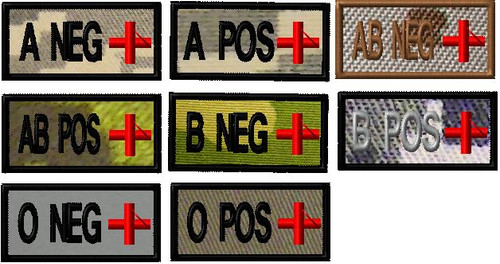 Blood Type custom red cross patch