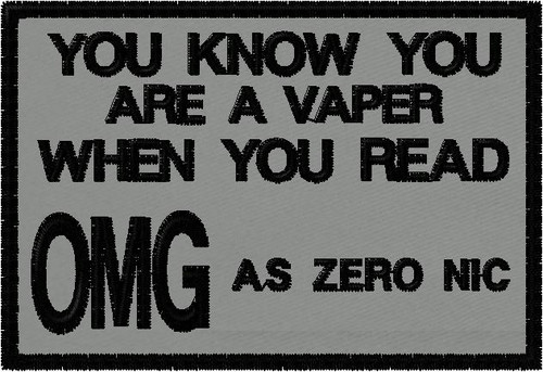 OMG is Zero Nic vaping patch