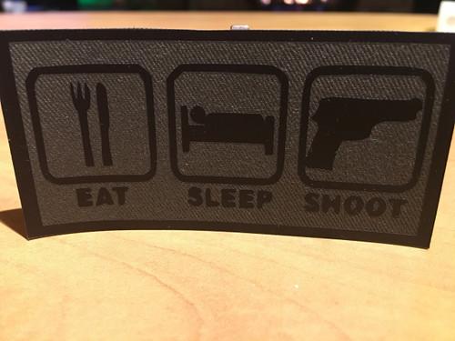 PVC Vinyl Patch Eat Sleep Shoot