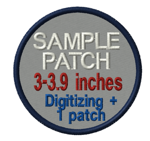 save on sample patches:  Digitizing fee + 1 patch for one low price!