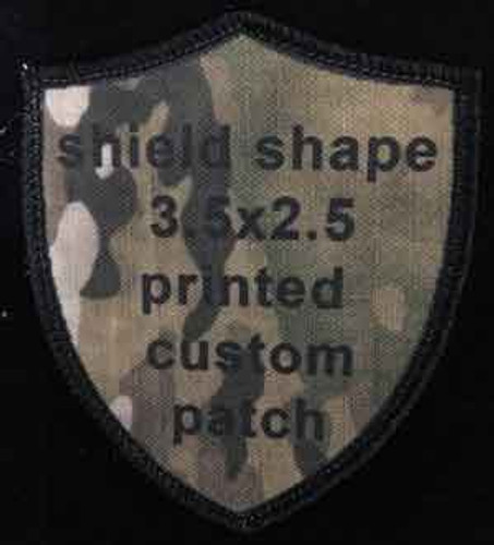 Printed Custom Patch 2.5 x 3.5 Shield shape