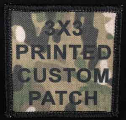 Printed Custom Patch 3x3
