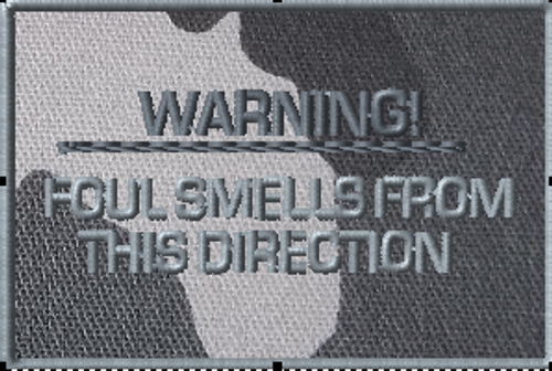 Warning Foul Smells Funny VELCRO® Brand Patch