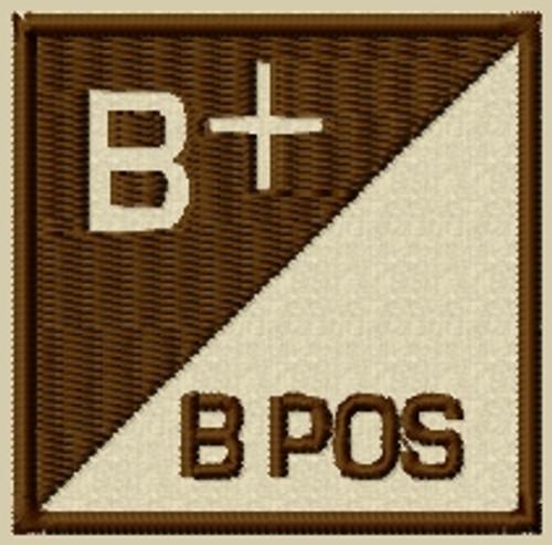 B Pos type 3 Blood type patch