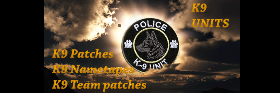 custom K9 Police Patches