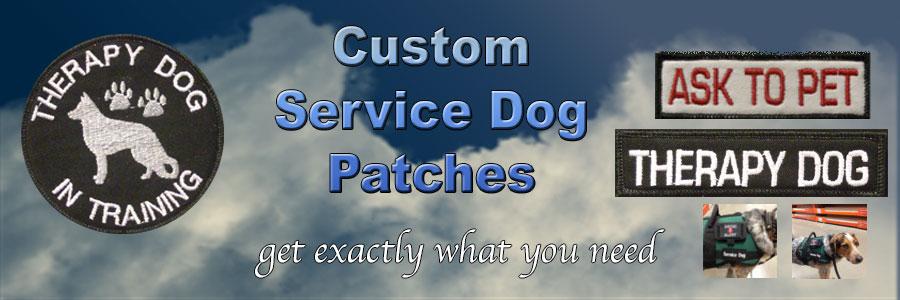 custom service dog patches
