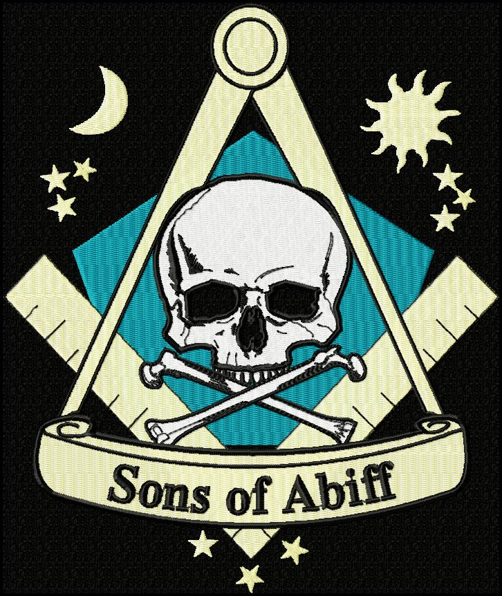 sons of abiff Free Masons Patch