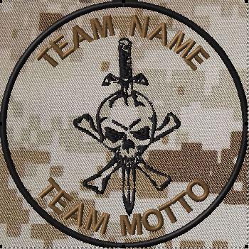custom team patch jolly roger sword dcu