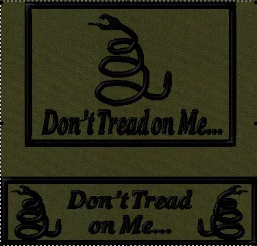 dont tread on me tactical hat patches