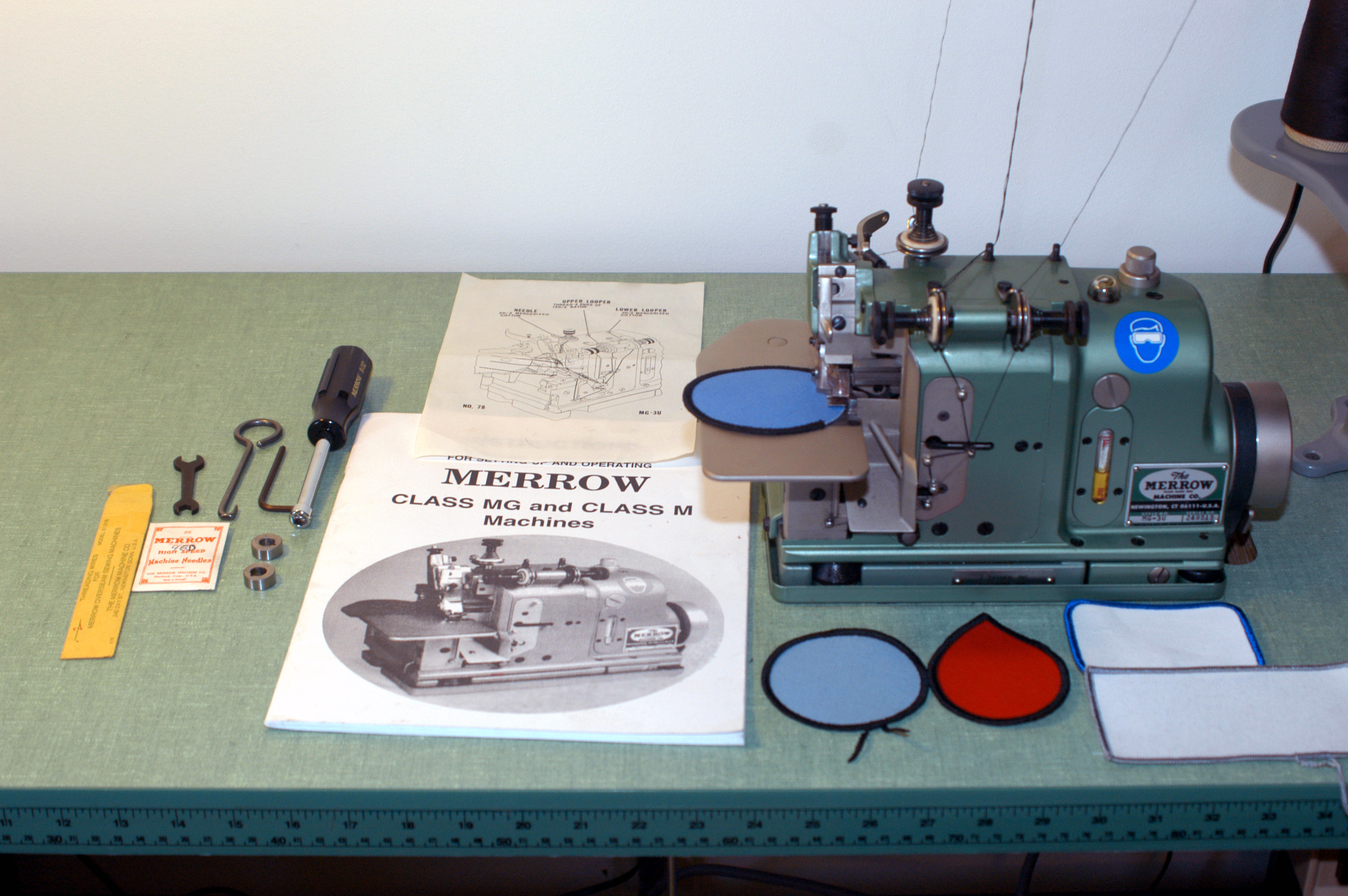 merrow machine for patch edges