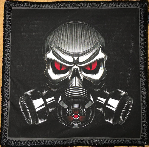 evil gas mask pvc vinyl patches