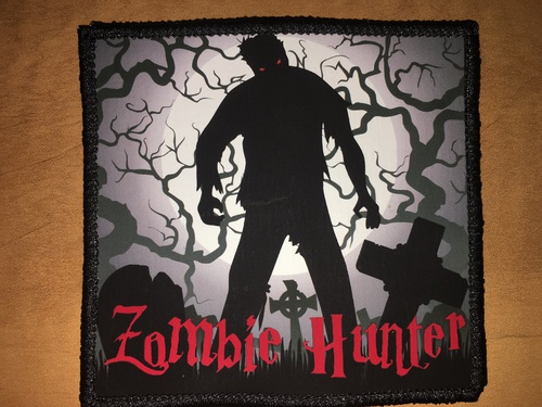 pvc vinyl morale patch Zombie Hunter