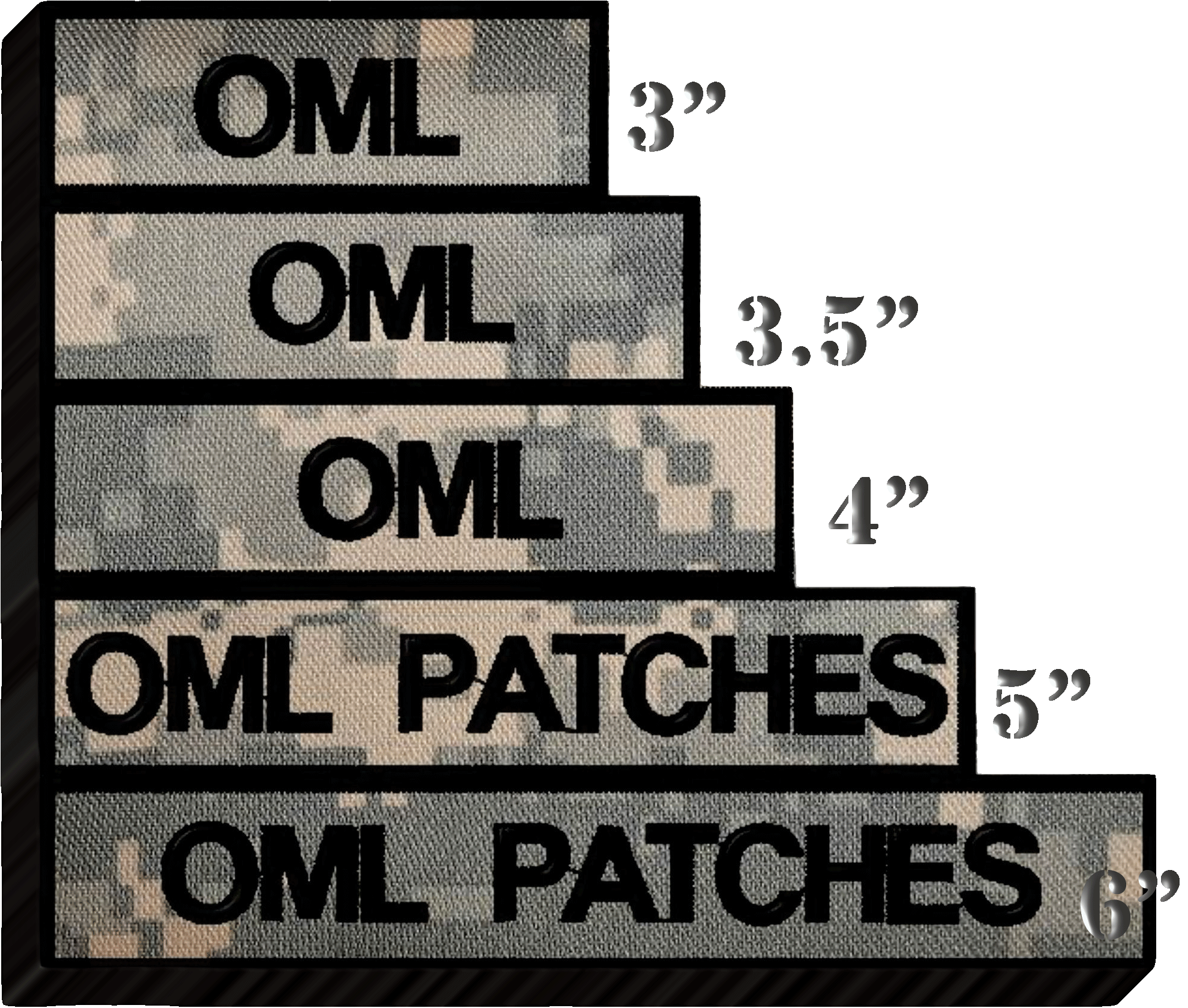 lettering on patches, scrolls and tabs