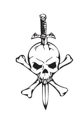 Custom Team patch Jolly Roger