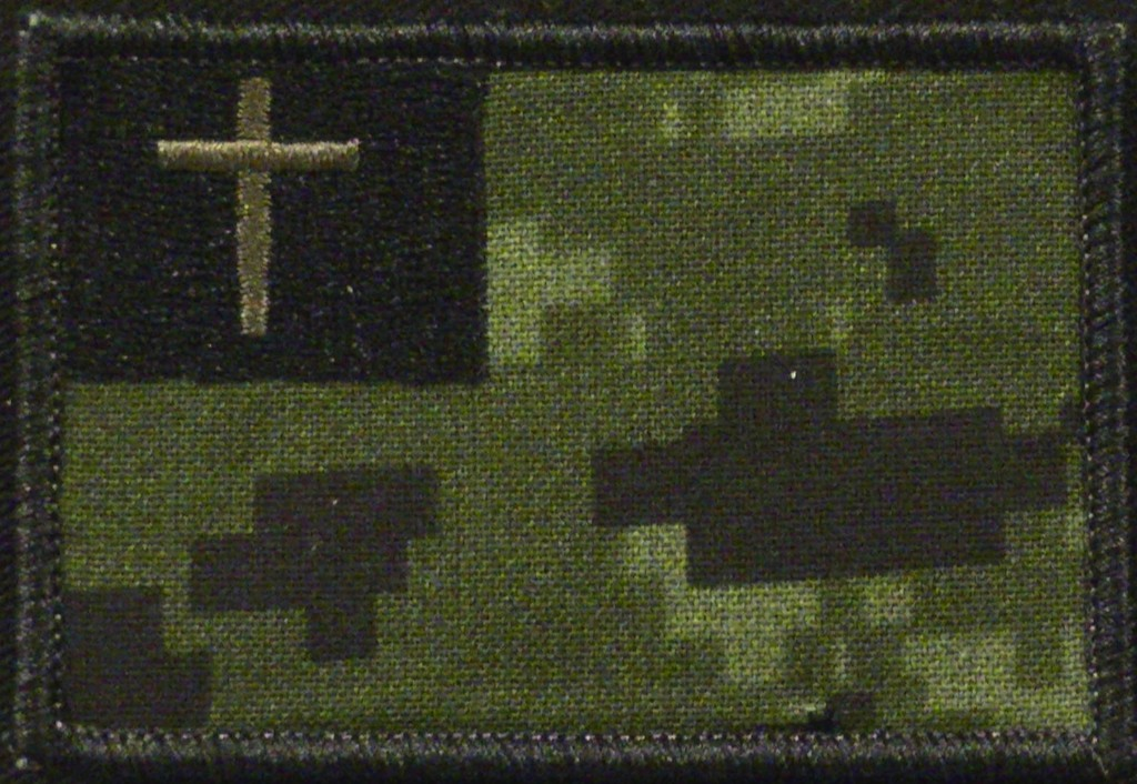 black thread color on CADPAT camo material