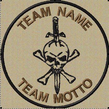 custom team patch jolly roger sword in tans